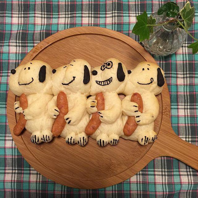 スヌーピーちぎりパン